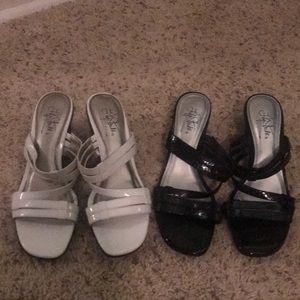 2 Pair Size 8 Life Stride Soft System black/white